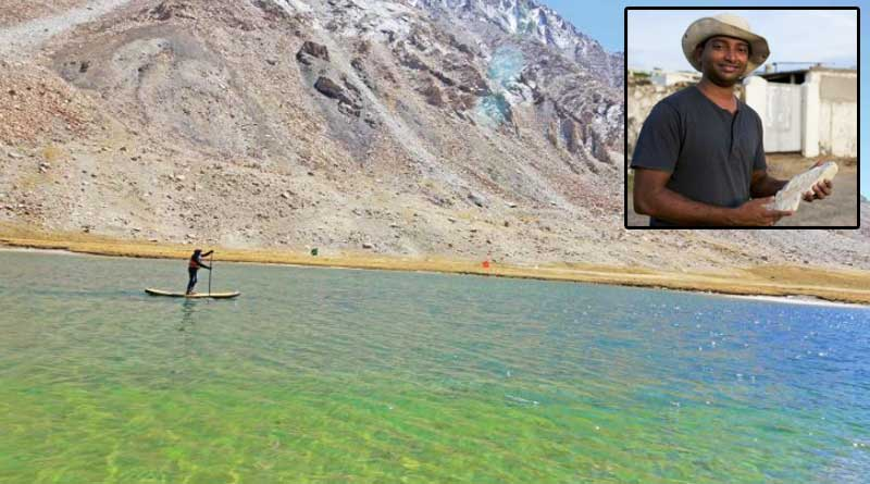 Geologist paddles in lake at 16,618 ft altitude, sets new National Record