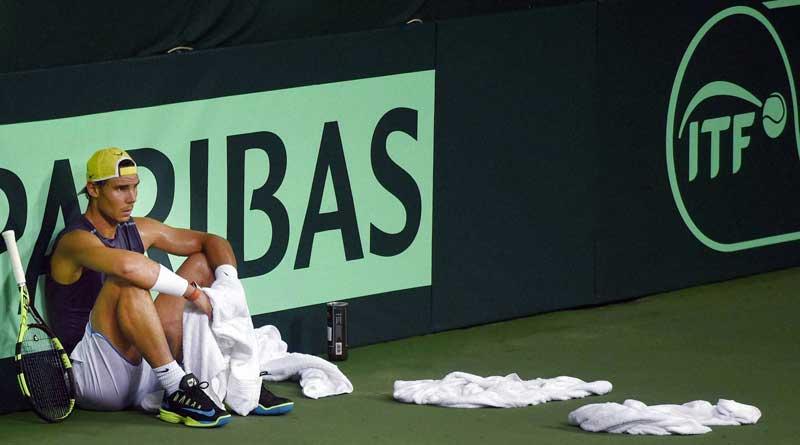 Rafael Nadal lost his cool before Davis Cup