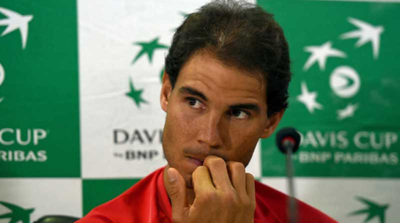 Nadal pulls out of opening tie due to stomach upset, spain lead by 2-0