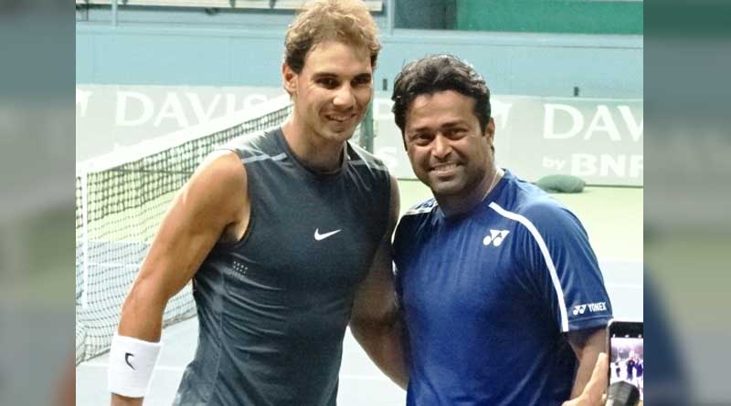 Rafael Nadal and Leander Paes respect each other before Davis Cup