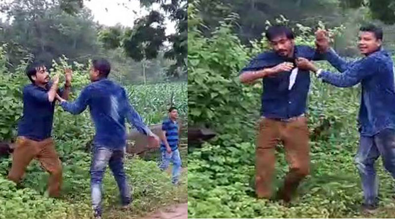 bjp-leaders-son-caught-in-a-video-thrashing-a-bike-rider