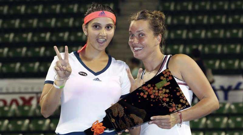 Sania Mirza-Barbora Strycova became the champion inPan Pacific Open