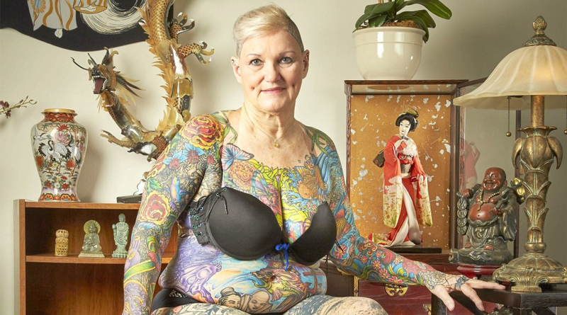 This 67-year-old woman holds the record for most body tattoos