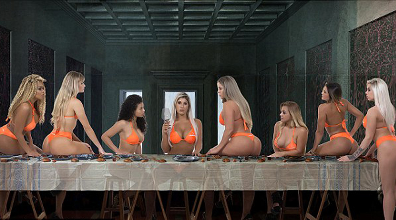 Bikini-Clad Contestants Posed for a recreation of the painting The Last Supper in Miss Bumbum beauty pageant