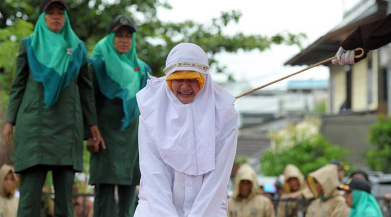 Woman Screams In Pain During Caning In Indonesia