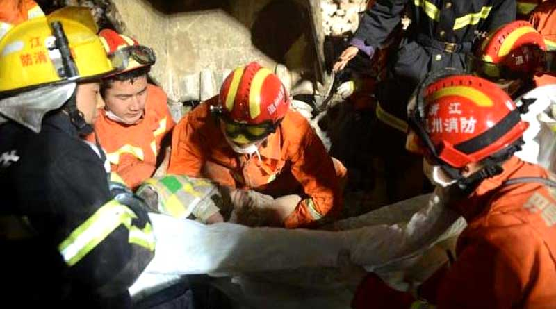 3-year-old girl survives building collapse in arms of dead parents