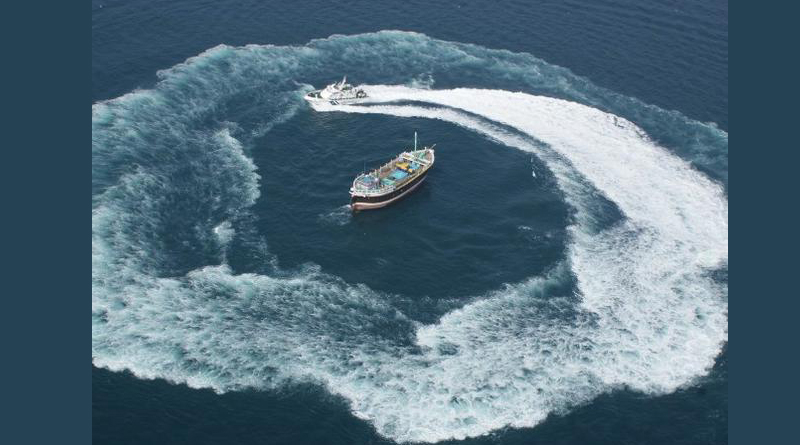 A Pakistan boat with 9 crew apprehended by Coast Guard