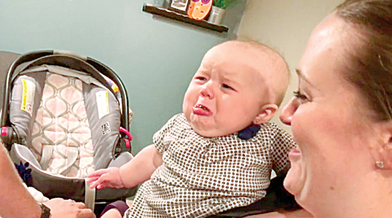 Adorable Little Baby Cries Each Time Her Parents Kiss Each Other