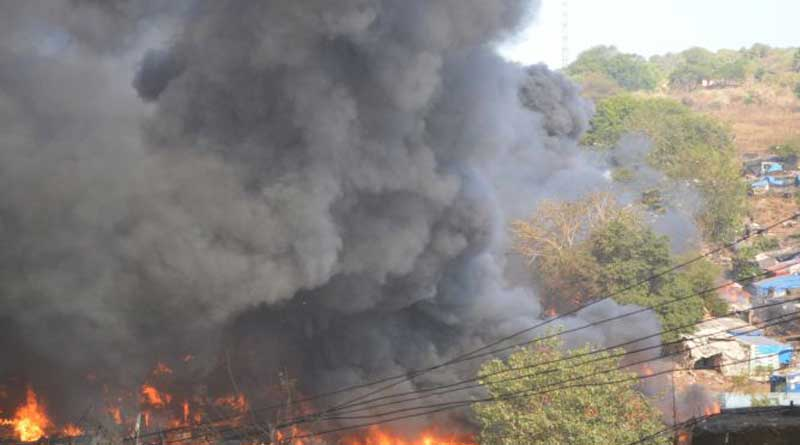 Fire at Tangra gas cylinder godown