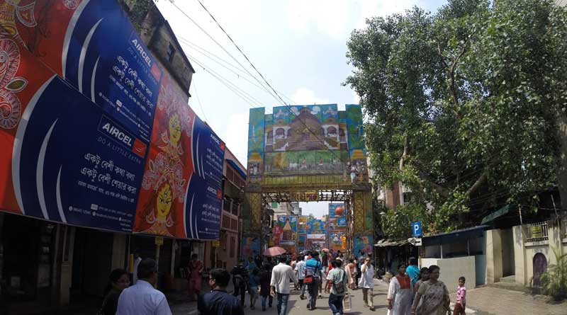 KMC orders Puja committee to remove banners