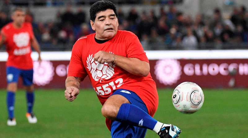 Diego Maradona played in a peace charity match in Rome