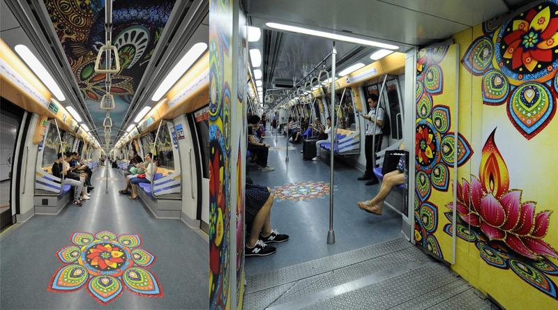 Singapore Celebrates Diwali With This Beautiful Themed Train!