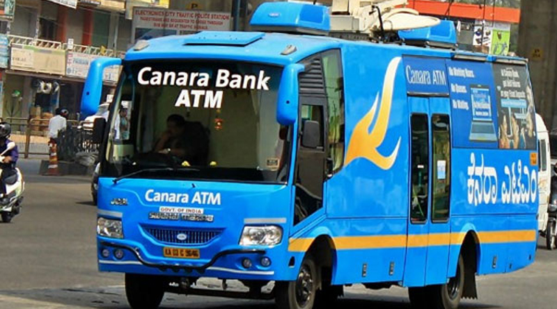 canara bank rolled out the atm on wheel service
