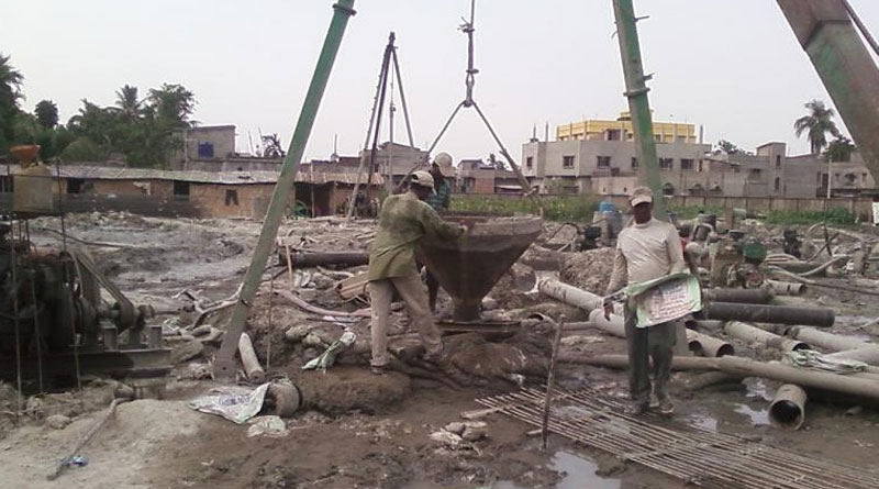 cash crunch hit construction activity in rajarhat