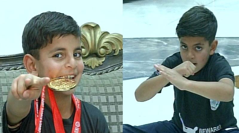 6-year old Kashmiri Boy Hashim Wins Asian Youth Karate Championship