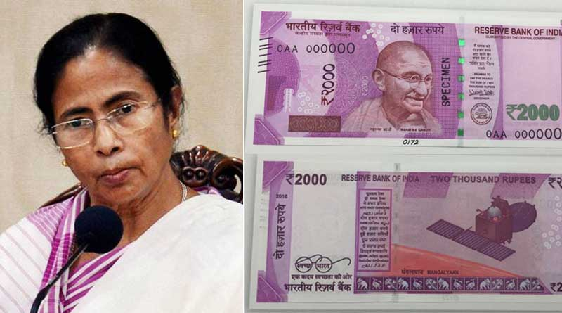 Mamata Banerjee asked, why no Bengal Tiger on New 2,000 rupee note