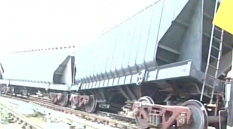 Two bogies of a goods train derailed in Jhansi in early morning hours.