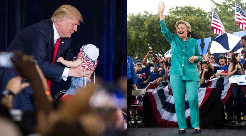 Hillary Clinton and Trump used the final Saturday before Election Day to make their closing pitches to voters