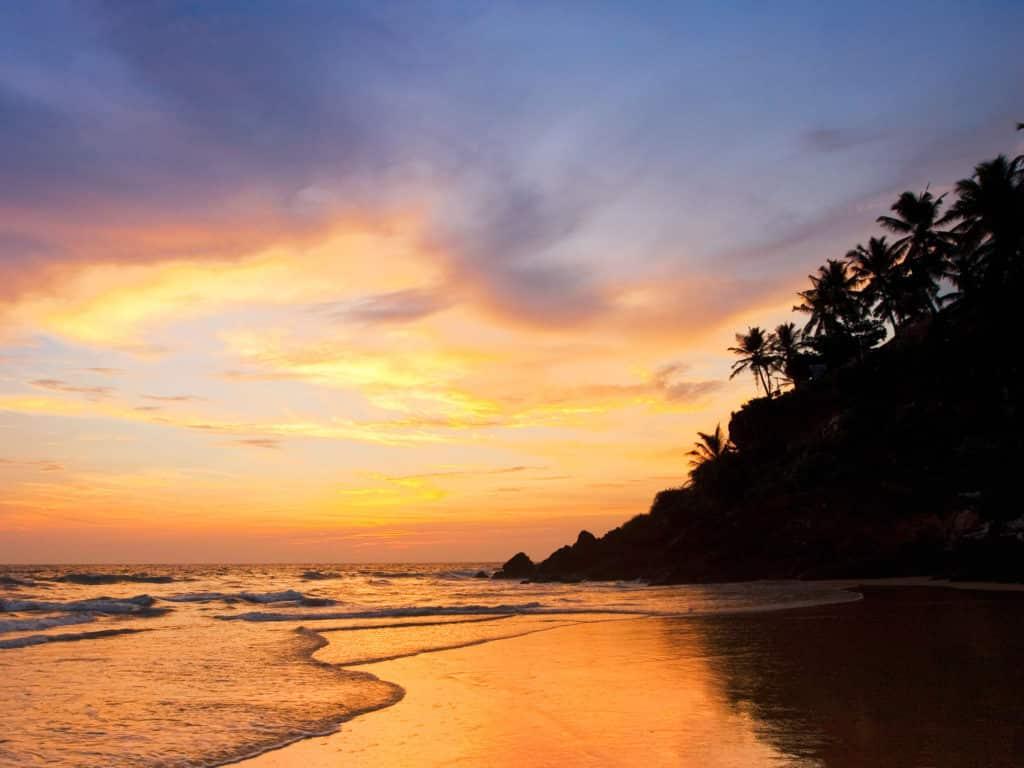 C4W38E Coastline, Varkala, Kerala, India