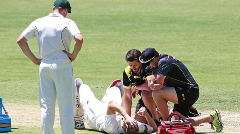 Australia batsman Adam Voges blow to helmet in Sheffield Shield