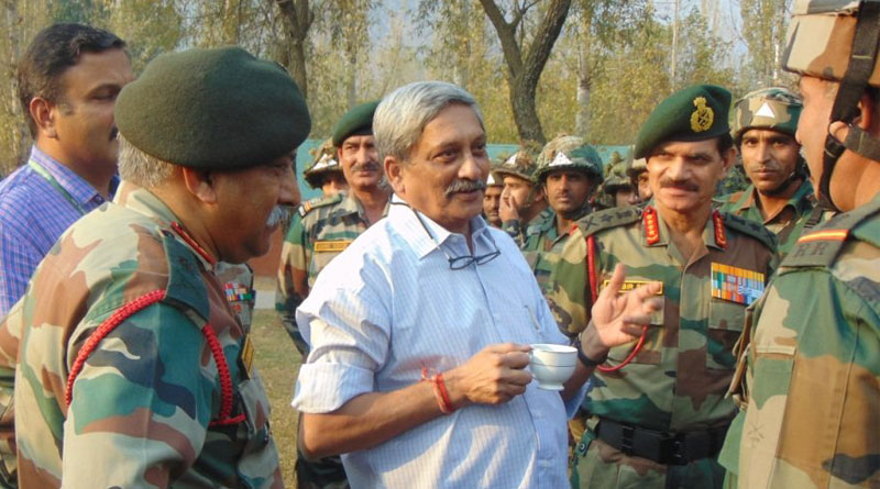 Told armed forces to shoot at anyone carrying an AK-47 machine gun: Manohar Parrikar