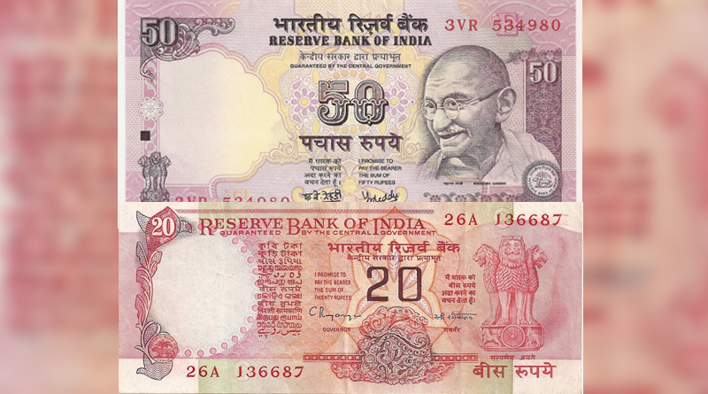 The Reserve Bank of India (RBI) today announced that it would issue new Rs 50 and Rs 20 bank notes