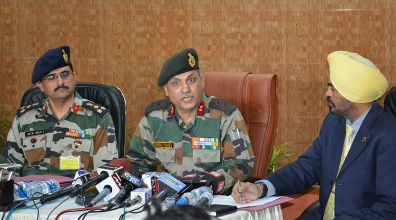 Major General Sunil Yadav addresses the media on army deployment in West Bengal