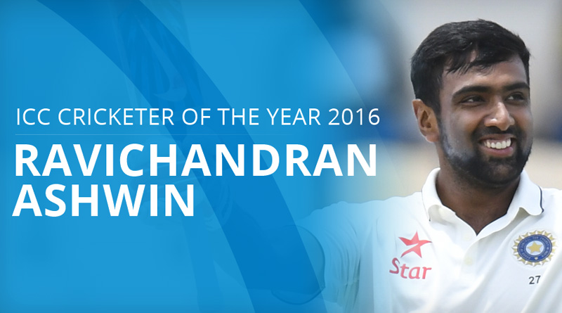Ravichandran Ashwin named as the ICC Cricketer of the Year