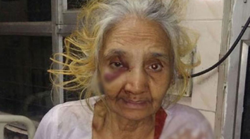 70-Year-Old Woman Brutally beaten By Son In New Delhi