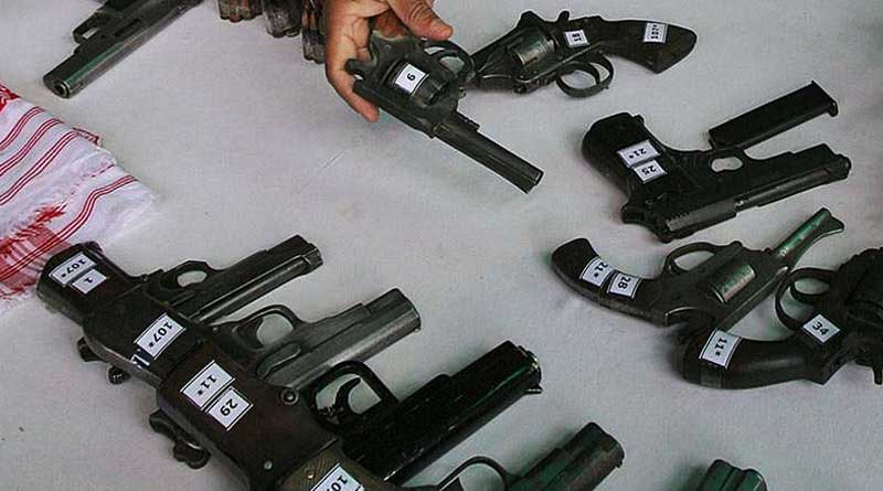 Illegal arms factory in Haringhata