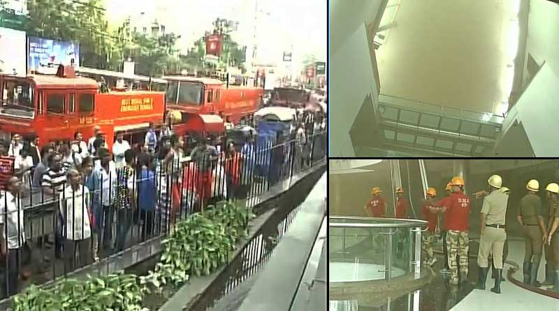 Fire in South city mall's food court, panic strikes
