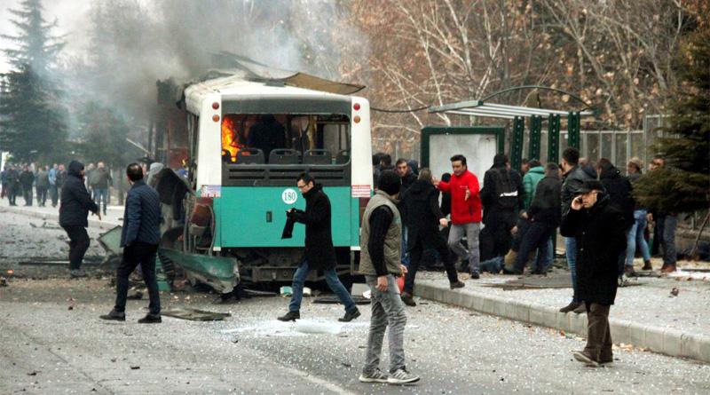 13 solders killed in blast near turkey university campus