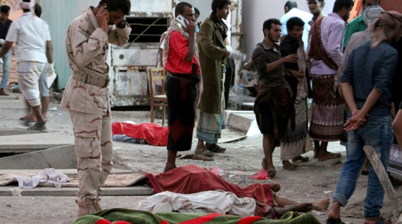 suicide bombing attack in yemen,many soldier are killed