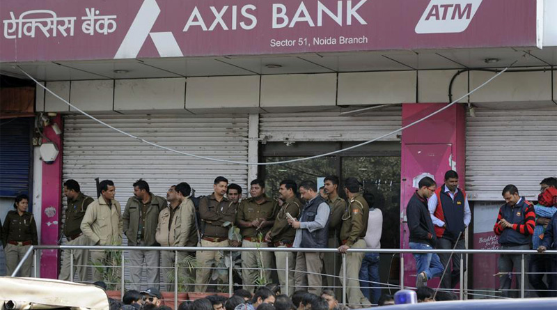 Police have sought transaction details of two accounts and CCTV footage from Axis Bank