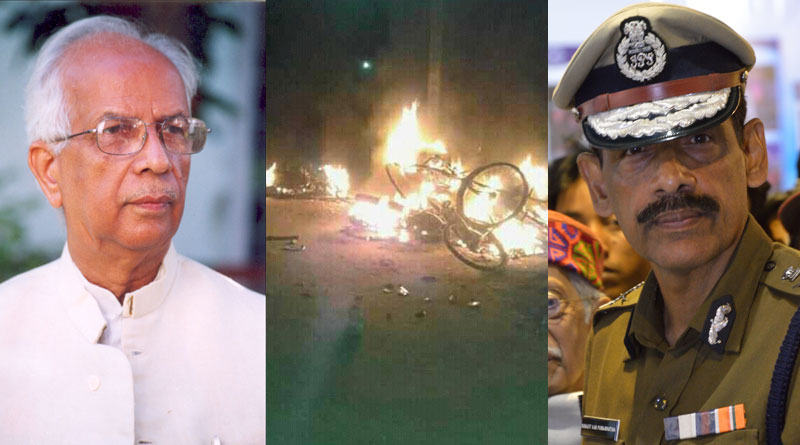 WB Governor Keshari Nath Tripathi calledthe DGP to inquire about the law and order situation in Howrah.