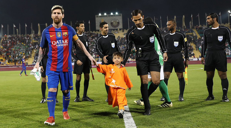 Afghan fan of Lionel Messi, finally meets his idol