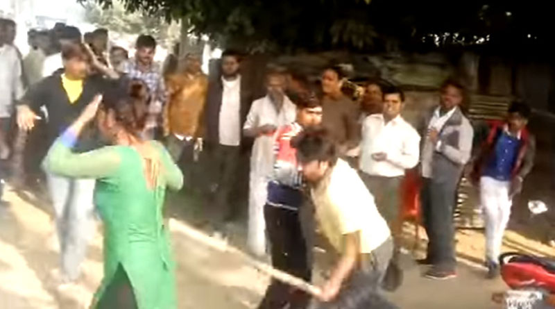 Woman molested in busy market, beaten up with stick