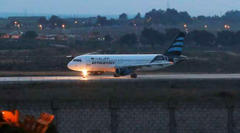 Libyan Plane hijacked and lands in Malta with 118 on board