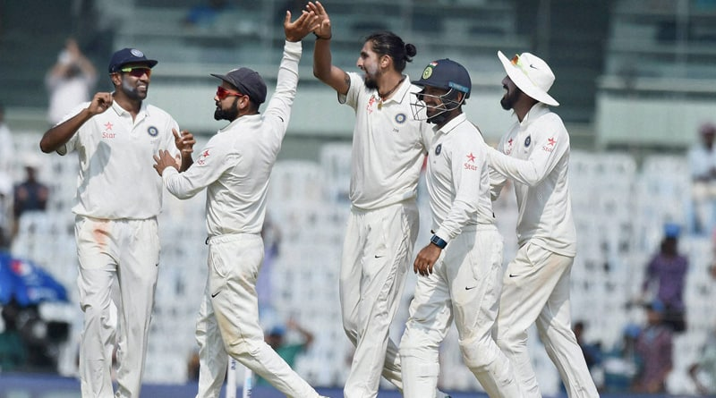 team India won the fifth test by Innings and 75 runs