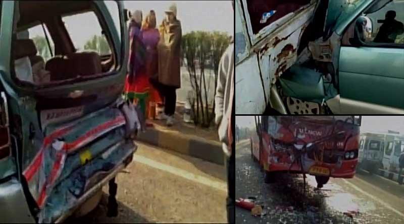 Multi vehicle crashed at Kanota in Jaipur, 2 killed