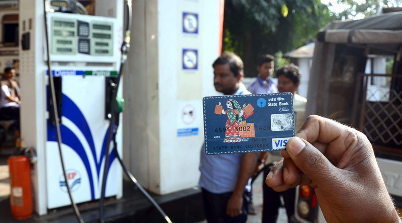 From monday onwards petrol pumps across the country won't accept cards