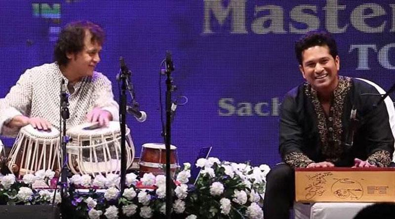 Video of Zakir Hussain teaching  Tabla to Sachin Tendulkar takes internet by Storm