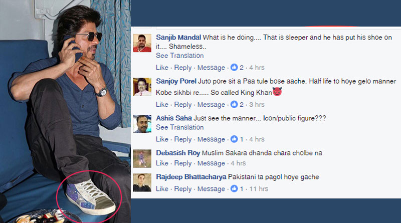 Netizens takes on SRK over his 'ill manners' in train