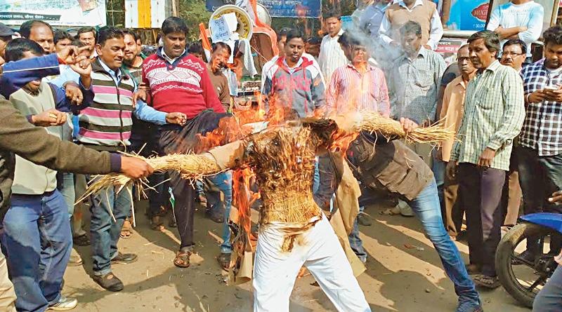 Violent protests erupt in Bengal over Sudip Banerjee's arrest