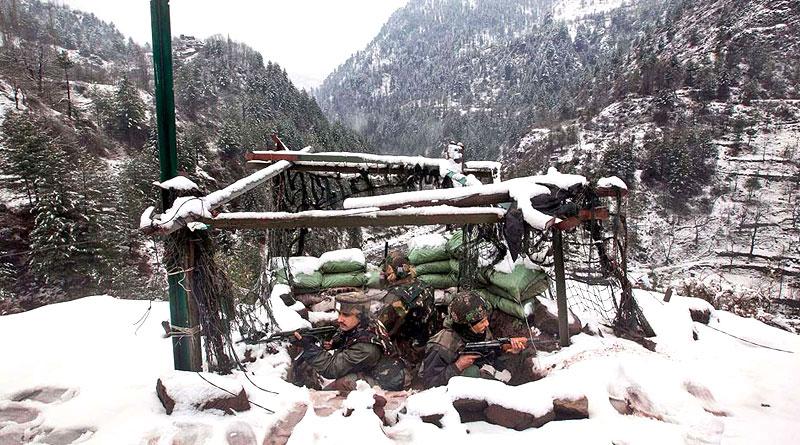 Beating freezing temp Jawan stands guard on Kashmir border