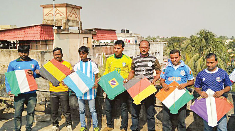 Kite flying competition held at Nabanna