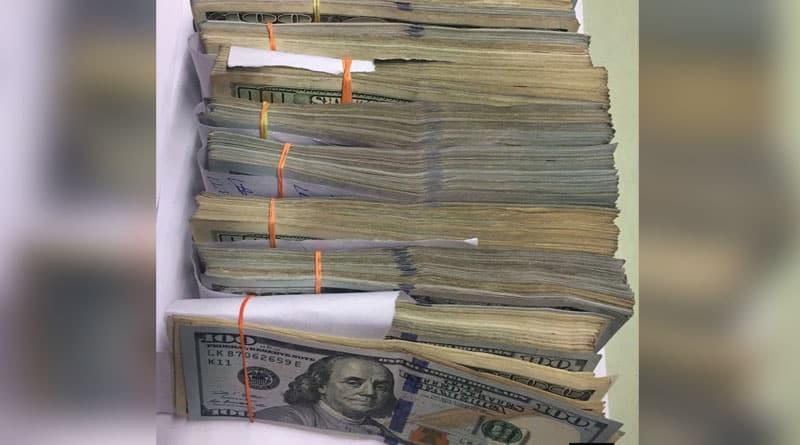 1,20,000 USD (Rs. 80,00,0000 seized from Kolkata international Airport