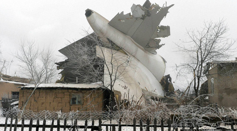 Kyrgyzstan says at least 32 dead after Turkish cargo plane hits houses