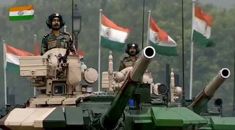 Watch Indian army contigents marching on Rajpath on the eve of Republic Day