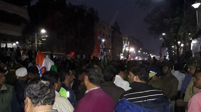TMC workers attack BJP party office after Sudip Banerjee's arrest